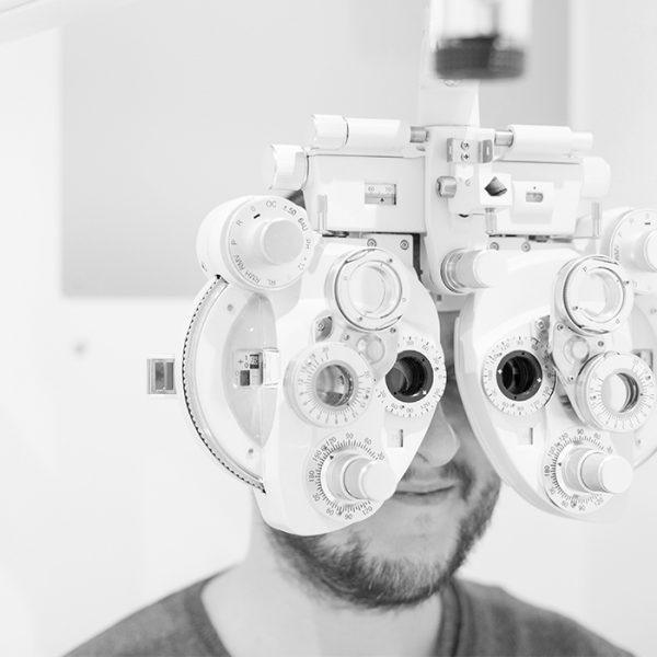 Examen de la vue Optique des halles